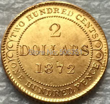 1872 Canada 2 Dollars gold coins copy Free shipping(China)
