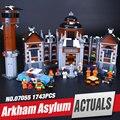 Lepin 07055 1628 unids Nueva Serie de Películas de Batman El Manicomio Arkham's Juego de Bloques de Construcción Ladrillos de Juguetes Educativos 70912