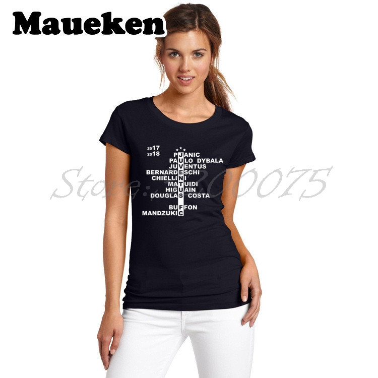 Women 2017/18 Squad Crossword buffon Dybala higuain Pjani Bernardeschi t-shirt Costa juventus Mandzukic Matuidi Lady Girl W17099