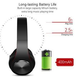 Image 4 - Bluetooth kulaklıklar aşırı kulak kablosuz kulaklıklar katlanabilir stereo kulaklık mikrofonlu kulaklık desteği TF kart FM PC müzik MP3