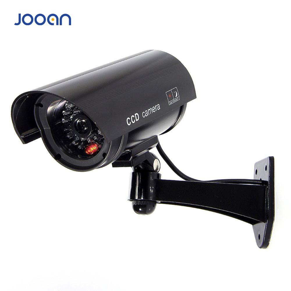 JOOAN Outdoor Dummy Camera Surveillance  Wireless LED Light Fake Camera Home CCTV Security Camera Simulated Video Surveillance