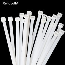 1000 Pcs 3x100mm White Black Self-locking Plastic Nylon Cable Ties Wire Zip Tie