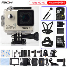 цена на Action camera Ultra HD 4K/24fps 3840*2160 WiFi NTK96660 1080P 60fps Diving go pro Style waterproof 30M Sport Camera