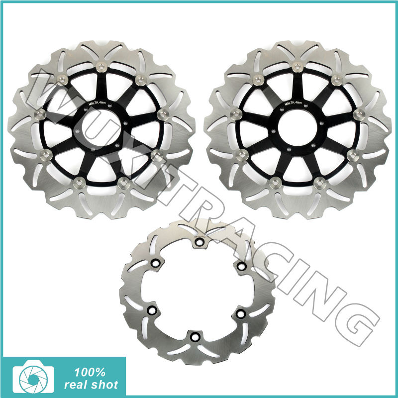 New Front Rear Full Set Brake Discs Disks Rotors fit for Honda XL 1000 V Varadero 03 04 05 06 07 08 09 10 11 12 free shipping front and rear brake pads set for bmw r1200gs 04 09 r1200rt 05 09 r1200st 03 08 r1200s 06 08 r1200r 06 09