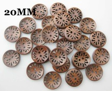 WBNLWA 2 holes sewing 20MM Brown Buttons Hollow 100pcs/lot High Quality Shirt button Garment accessories
