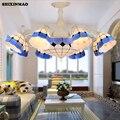 Средиземноморский стиль  жилые люстры  гостиная  спальня  столовая  лампы для учебы  коммерческое освещение