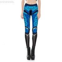 Robot Comics Women Leggings Plus Size Fitness Women S Gothic Module Fades Legging Crop Punk Pants