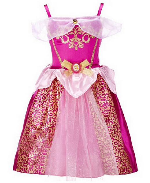 Elegant Baby Girls Princess Dress Vestido Princesa Sofia Sophia Aurora Cinderella Robe Princesse Enfant