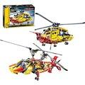 Decool 3357 Техника Вертолет строительный кирпич блоки Игрушки для детей Игры Автомобилей Формулы 1 Совместимость с Лепин Бела 9396