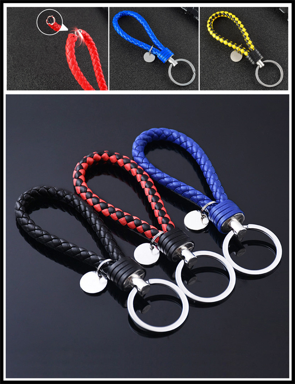 Universal motorcycle Car accessories woven leather rope key ring for Nissan NV200 Nuvu NV2500 Forum Denki <font><b>350Z</b></font> Zaroot image