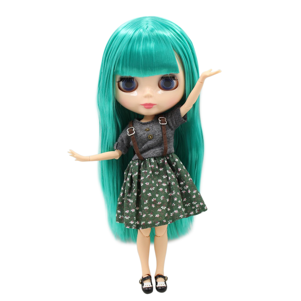 все цены на factory blyth Doll bjd neo BL4427 joint body green hair With Bangs/fringes natural skin gift 1/6 30cm