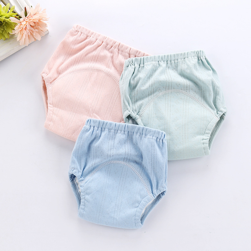 Summer Reusable Nappies Baby Cloth Diapers Washable Infants Children Baby Cotton Training Pants Nappy Panties