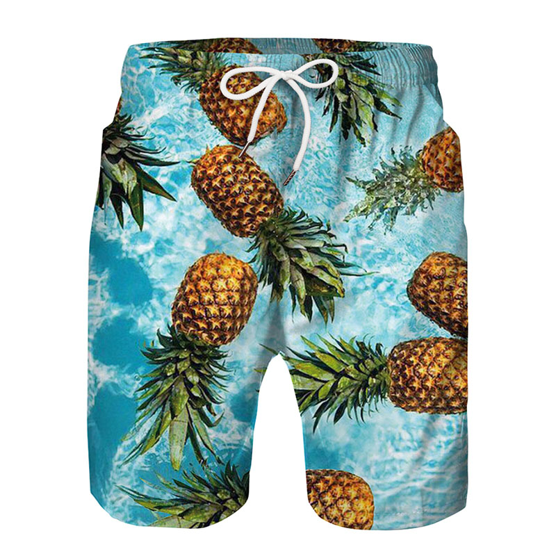 Spartan Pineapple Lemon Watermelon Fruit Board   Short   Sportswear Loose Breathable Swimming Beach Summer Vacation Pants   Shorts   Men