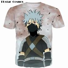 Naruto Kakashi Prints Short Sleeve Men Women Hipster 3D Casual T shirt