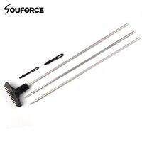 9 3pu kit vara de limpeza (. 22 &. 30 calibre haste termina alumínio) acessórios arma escova conjunto para a caça