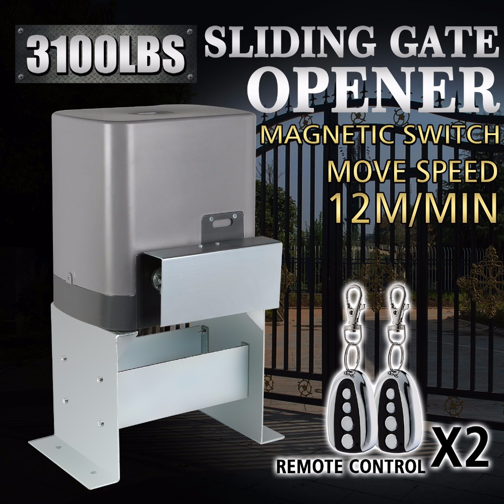 Motor Powered Automatic Sliding Gate Opener Remote Controllers In