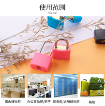 Color mini copper lock 20mm long beam brass color shell case waterproof small padlock