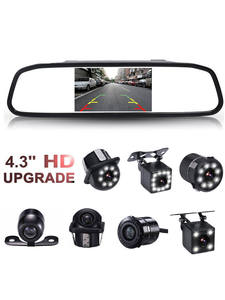 GSPSCN Rearview-Mirror-Monitor Parking-Assistance Video Auto Reversing Infrared-Vision