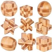 10 Pcs Set 3d Handmade Vintage Ming Lock Luban Lock Wooden Toys Adults Puzzle Children Adult