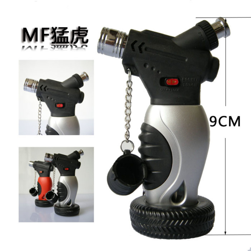 ( Lighter No gas)Mini windproof jets butane torch turbo gas lighter,Lock function Outdoor portable encendedor gas