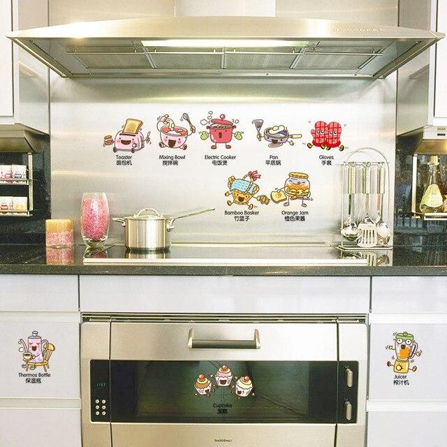 US $3.26 |[Fundecor] cartoon herd wand aufkleber wohnkultur wohnzimmer  kinder zimmer küche kühlschrank aufkleber diy selbst klebe film in  [Fundecor] ...