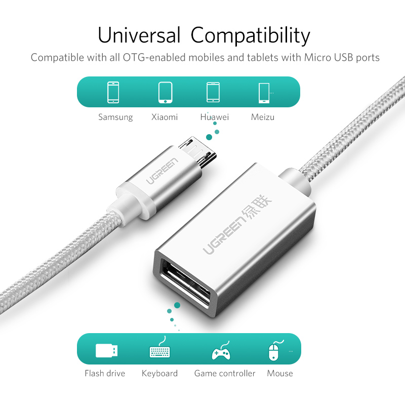 ugreen otg cable and micro usb otg adapter mobile phones and tablets