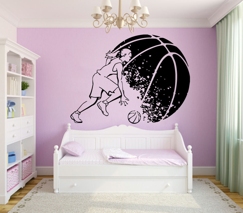 Basketball wall sticker girl basketball player sport gym mural art basketball wall sticker girl basketball player sport gym mural art wall decor basketball wall sticker bedroom home decor in underwear from mother kids on amipublicfo Image collections