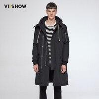 VIISHOW Long Winter Jacket Men Brand Clothing Male Cotton Autumn Coat New Top Quality Black Down