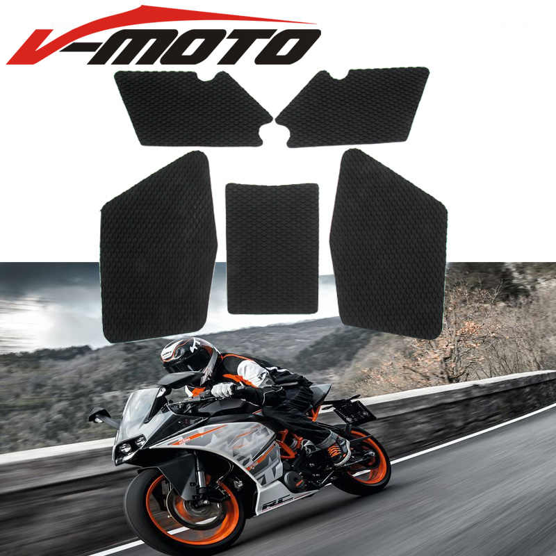 New For KTM RC 200 RC390 Motorcycle Tank Traction Pad Side Gas Knee Grip Protector Anti slip sticker