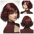 Hot Sell Full Lace Curly Full Lace Wig Women Burgundy Short Hair Style European and American Natural Elegant Hairpieces