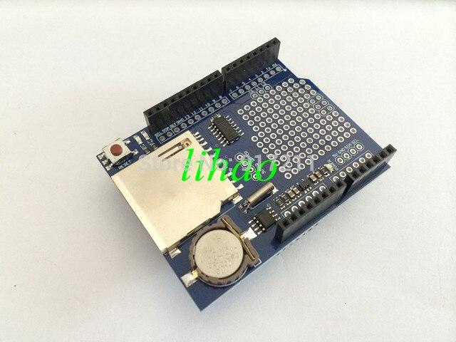 Free Shipping XD-05 Logging Recorder Data Logger Module Shield V1.0 for Arduino UNO SD Card Hot