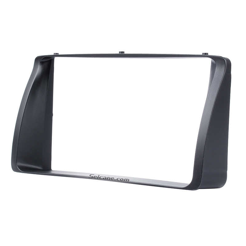 Seicane Double Din Car Radio Fascia for 2003 2004 2005 2006 Toyota Corolla Stereo Dashboard Radio Frame CD Trim Bezel Audio
