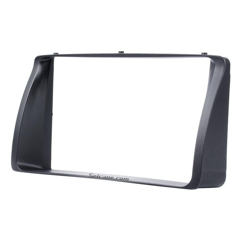 Seicane Double Din Car <font><b>Radio</b></font> Fascia for 2003 2004 <font><b>2005</b></font> 2006 <font><b>Toyota</b></font> <font><b>Corolla</b></font> Stereo Dashboard <font><b>Radio</b></font> Frame CD Trim Bezel Audio image