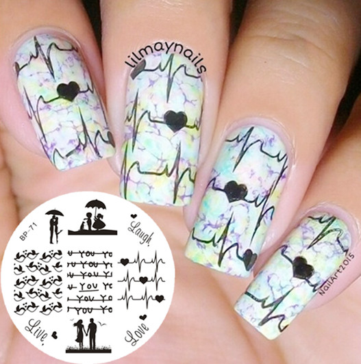 Love Birds Nail Art: Aliexpress.com : Buy BORN PRETTY Stamping Template Love