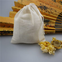 Reusable Drawstring Cotton Soup Bags Straining Herbs Bags Coffee Tea Brew Bags Soup Gravy Broth Stew Bags(China)