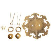High Quality 1 Set Cabinet Face Plate Door Pull Knocker Handle Antique Furniture Brass Hardware