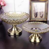 New elegant Lead free Crystal glass nuts storage box/high quality home Fruit Dishes Saucer snacks Candy dish Tray Home Decor