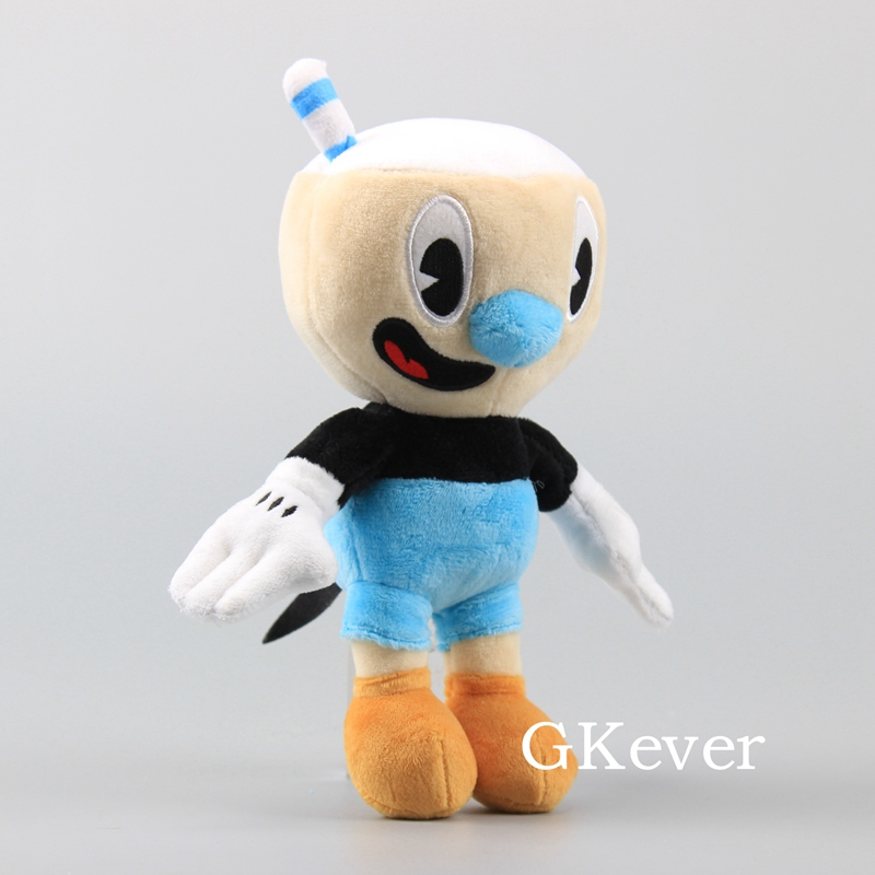 """10 Pcs/Lot Cuphead Game Figure Mugman Mecup And Brocup Plush Toy 9"""" 23 cm Children Gift 2"""