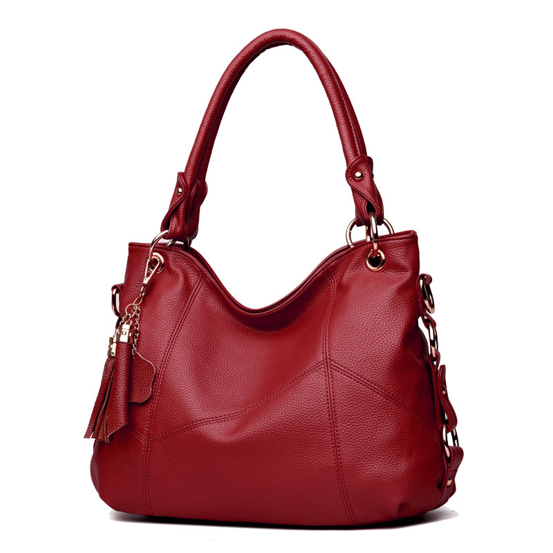 2018 women handbag New Tassel Soft Genuine Leather Women Shoulder Bag Brand Ladies Designer Handbags Crossbody Purse Satchel 5 color famous brand designer tassel women handbag genuine leather shoulder crossbody bags messenger ladies purse satchel retro
