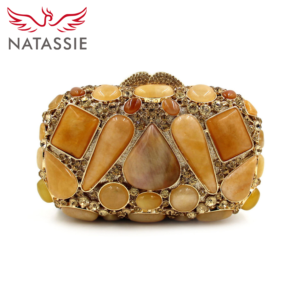 ФОТО NATASSIE 2016 High Quality New Fashion Agate Luxury Handbags Women Bags Designer Crystal Party Casual Clutches Evening Purses