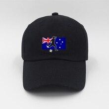 8c47831e482 AUSTRALIA National Flag Football Print Trend Men s and Women s Baseball Caps  Sun Hat