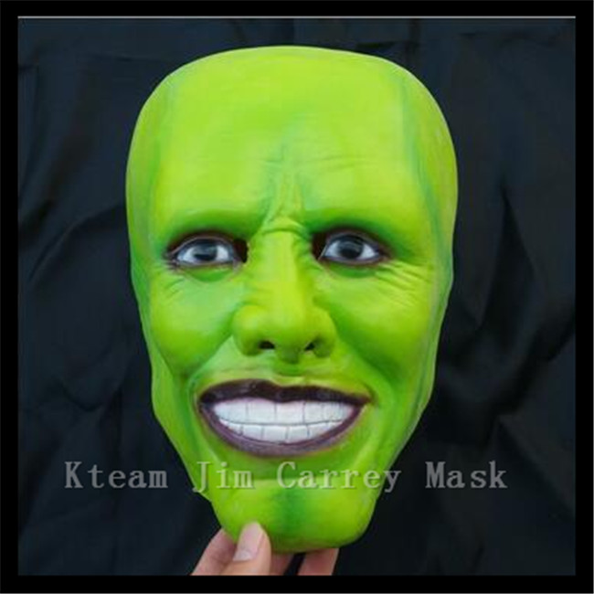 Hot !!! Famous Magic Comedy Movie (The Mask ) Mask Latex Jim Carrey Mask Halloween Costume Cosplay/Masquerade Costume Prop/Toy image