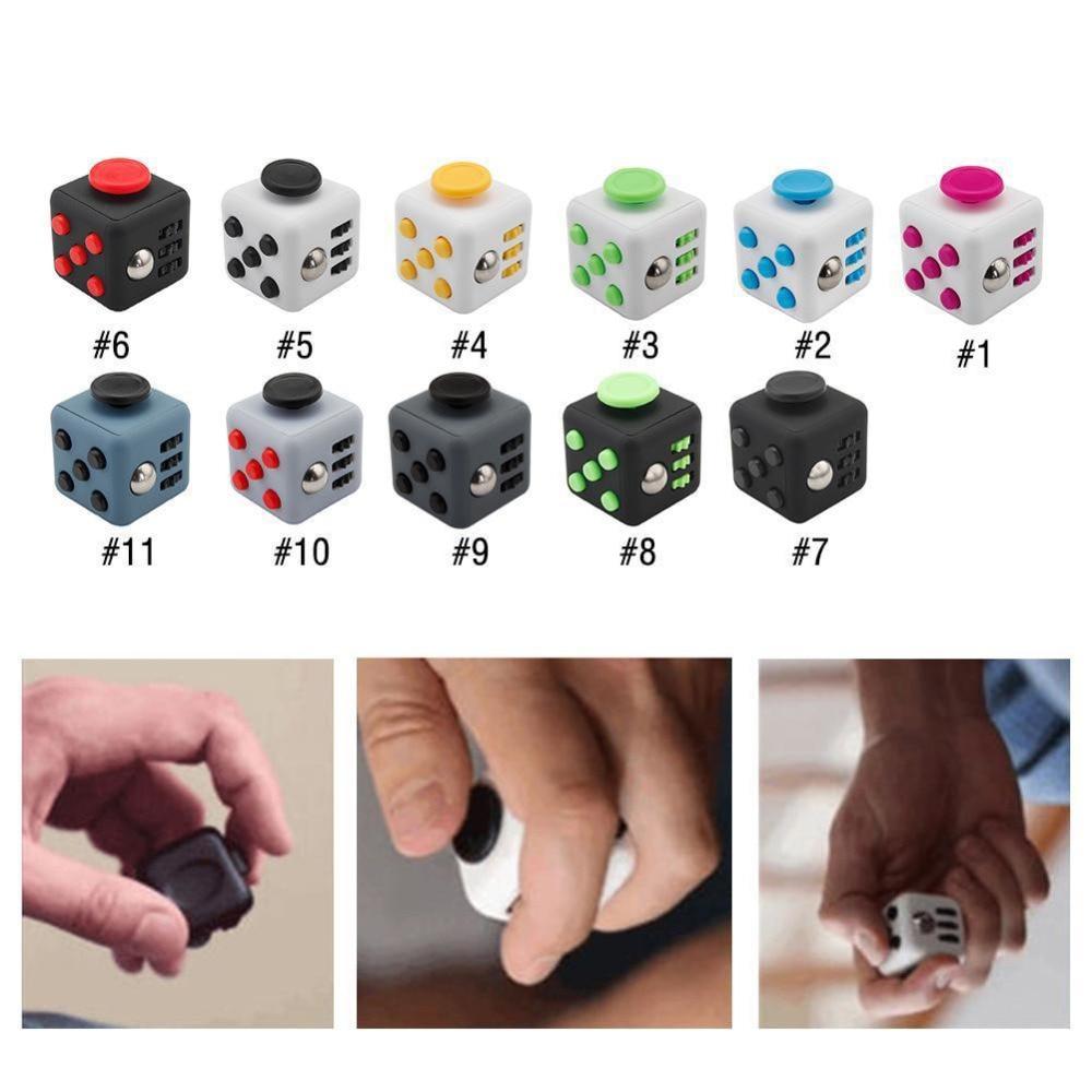 Size 3 3 3 3cm Fidget Cube Toy A Viny Desk Spin Anti Stress Fidget Toy
