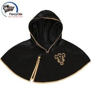 FancyCos Black Clover Cloak Anime Cosplay Costume Asta Cloak Black Bull Cape Finral Roulacase Cosplay Costume Halloween(China)