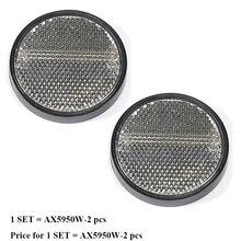 Tira reflectora redonda blanca de 2 piezas para remolque camión caravana campamento bicicleta remolque accesorios para el campamento adhesivo