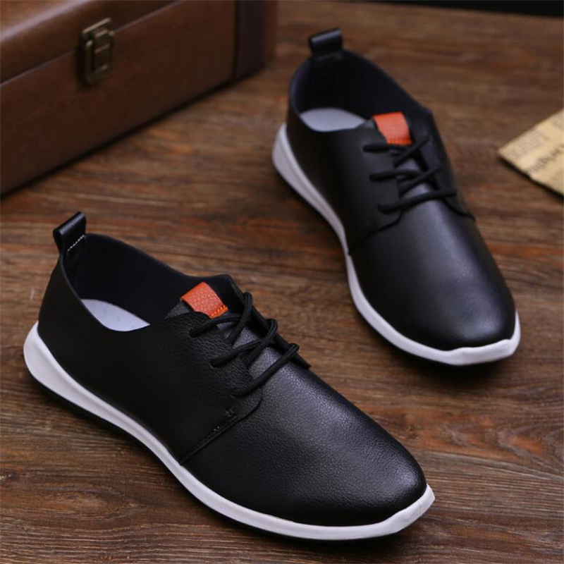 92cb480679a02d 2017 New Shoes Men Casual Male Black Summer Driving Flats Fashion Shoes  Brand Mens pu Leather Shoes Sales footwear for men-in Men's Casual Shoes  from Shoes ...