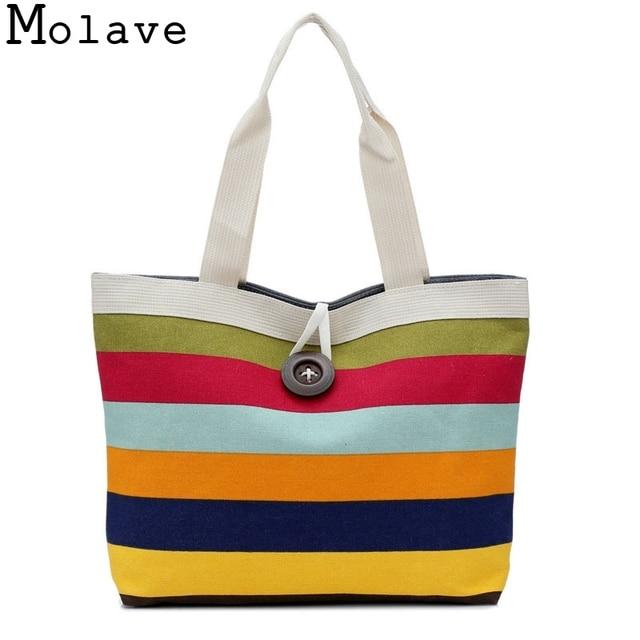 173d1197539a Fashion Lady Shopping Striped Random Shoulder Canvas Bag Tote Purse Bag  Handbags Beach Ladies Messenger Simple Handbag