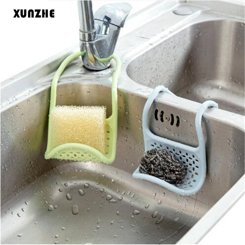 XUNZHE  Kitchen Bathroom Shelves Bath Wash Items Sponge Organizer Holder  High Quality Folding Sink Hanging Storage Rack
