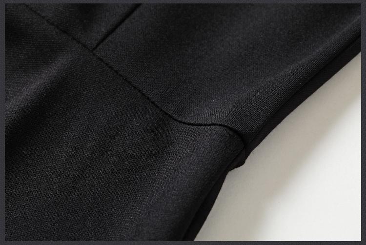 Elegant V-neck Little Black Dress
