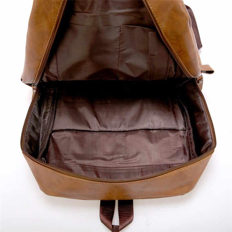 2019 модный мужской кожаный рюкзак высококачественный молодежный рюкзак для путешествий школьная сумка для книг мужской ноутбук деловой рюкзак через плечо сумка